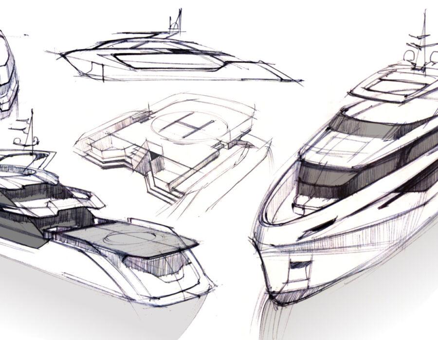 Post blog boat design_ Sketches 2019